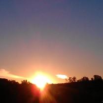 Central Australian sunset