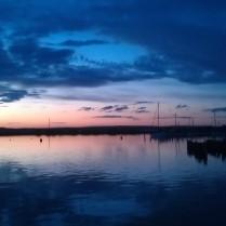 Sunset over Swan Bay